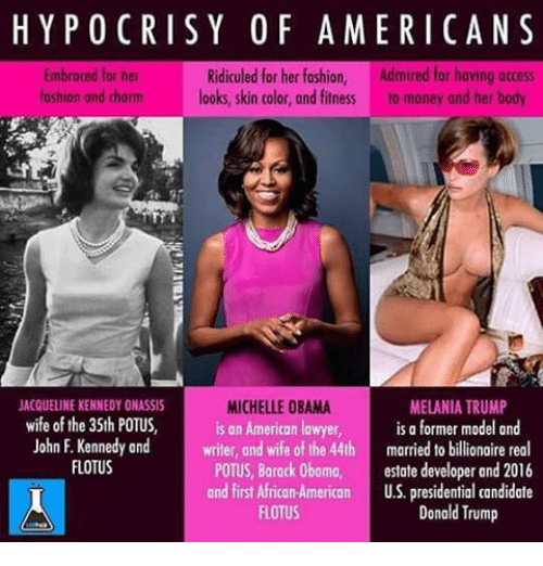 hypocrisy of americans ridiculed for her fashion admired for having 10179441 ✅ 25 best memes about michelle obama melania trump michelle