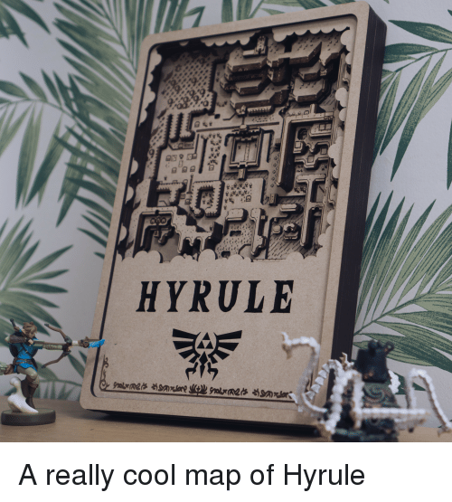 Cool, Map, and Really: HYRULE A really cool map of Hyrule