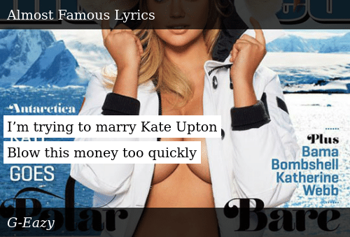 I M Trying To Marry Kate Upton Blow This Money Too Quickly