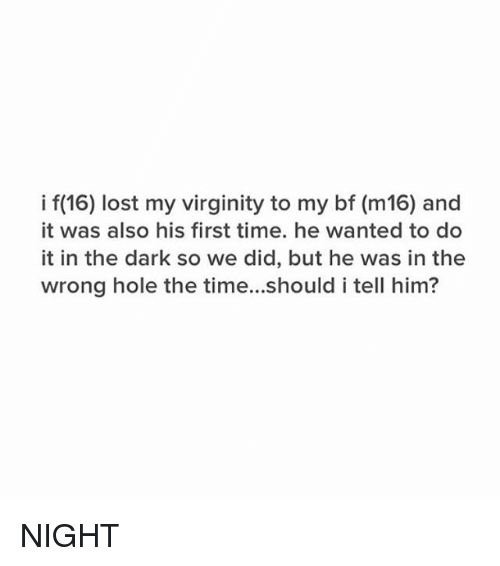 First time he lost his virginity