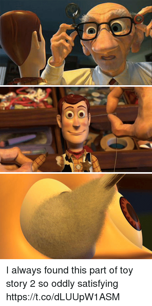 Memes, Toy Story, and Toy Story 2: I always found this part of toy story 2 so oddly satisfying https://t.co/dLUUpW1ASM