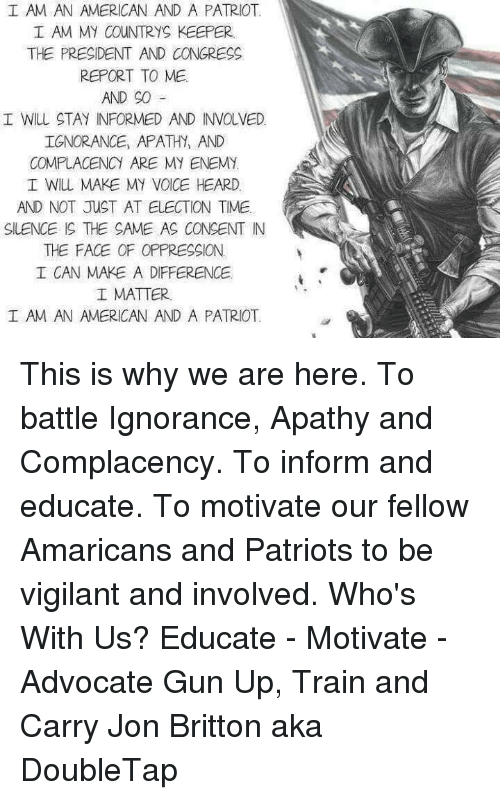 why i am an american patriot No ma'am, no ma'am, he said he's a decent family man, citizen, that i just happen to have disagreements with on fundamental issues  an american patriot the maverick the real.