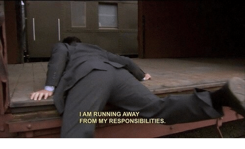Running, Away, and Running Away: I AM RUNNING AWAY  FROM MY RESPONSIBILITIES