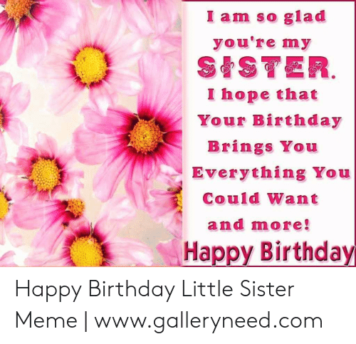 I Am So Glad You're My SISTER I Hope That Your Birthday
