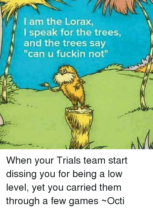 The Lorax I Speak For The Trees