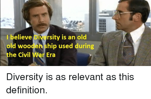 I Believe Diversity Is An Old Old Wooden Ship Used During He Civil