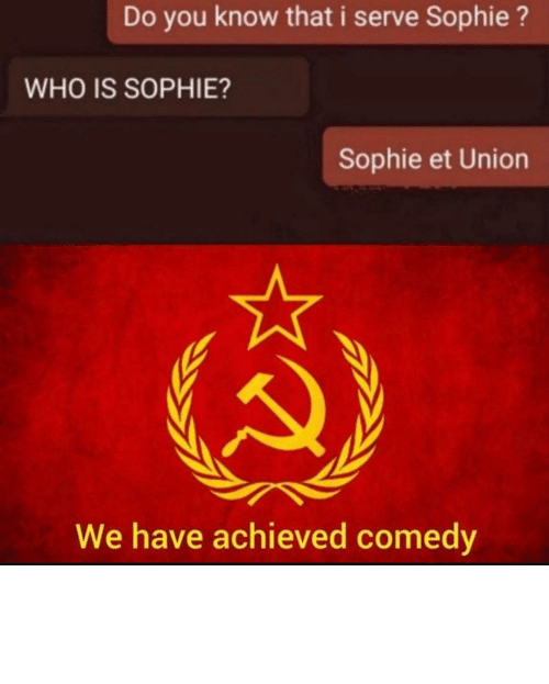 """Reddit, Believe, and Did: I believe he meant """"*did you know WE seeve sophie"""""""