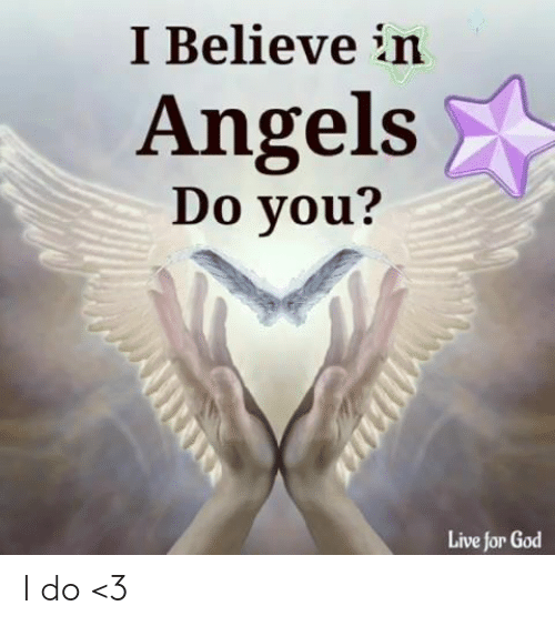 God, Memes, and Angels: I Believe in  Angels  Do you?  Live for God I do <3