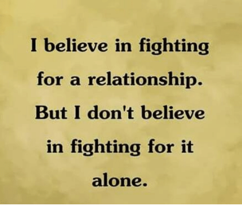 how to fight for a relationship