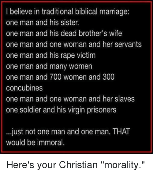 i believe in traditional biblical marriage one man and his 22824926 i believe in traditional biblical marriage one man and his sister