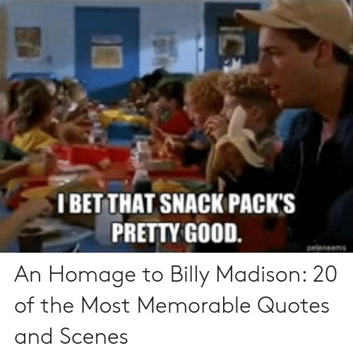 I BET THAT SNACK PACK\'S PRETTY GOOD Pelenem IC an Homage to ...