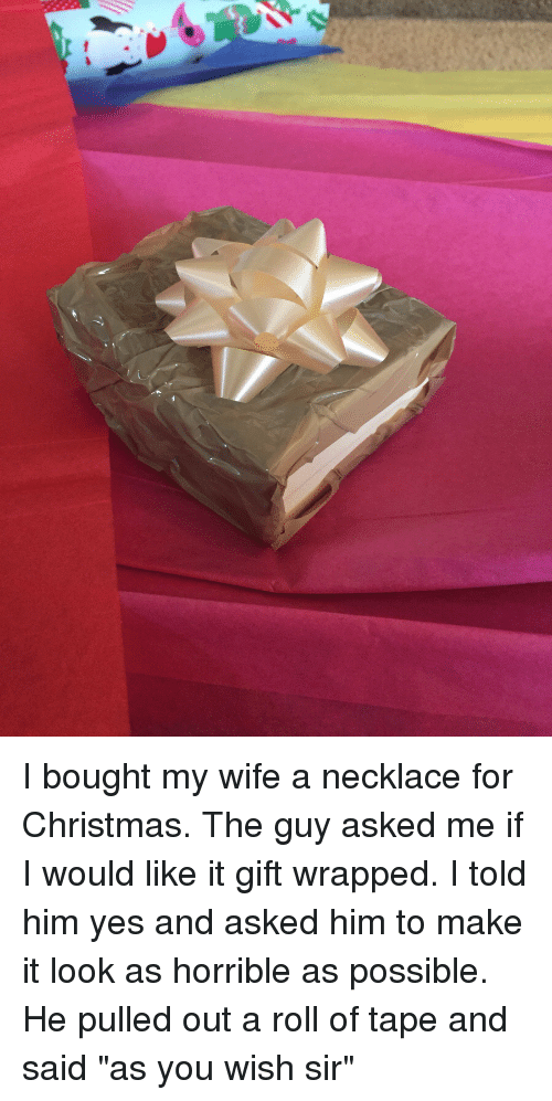 christmas funny and wife i bought my wife a necklace for christmas