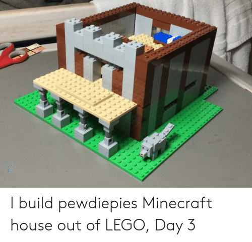 I Build Pewdiepies Minecraft House Out of LEGO Day 3 | Lego