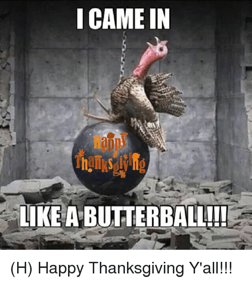 Happy Thanksgiving Yall >> I Came In Like A Butterball H Happy Thanksgiving Y All Meme