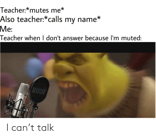 Can, I Can, and Talk: I can't talk