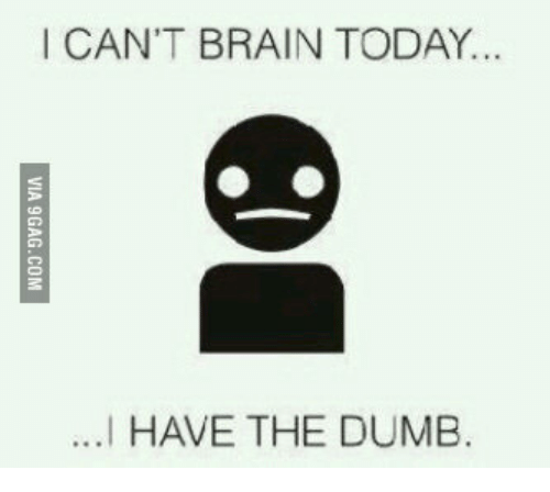 Can T Brain Today I Have the Dumb, I Have the Dumb, and I Cant Brain Today: I CAN'T BRAIN TODAY...  ...I HAVE THE DUMB