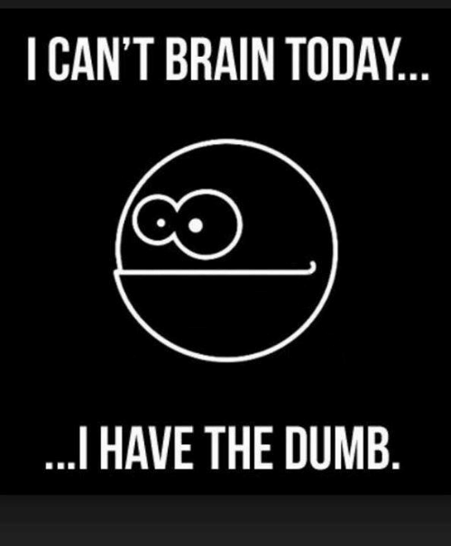 Dumb, Memes, and Brain: I CAN'T BRAIN TODAY  I HAVE THE DUMB