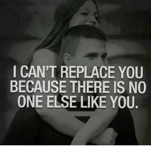 I Cant Replace You Because There Is No One Else Like You Meme On