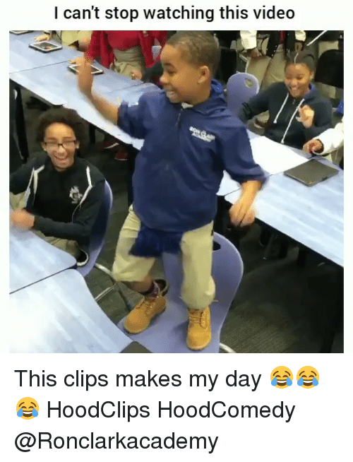 Funny, Video, and Day: I can't stop watching this video This clips makes my day 😂😂😂 HoodClips HoodComedy @Ronclarkacademy