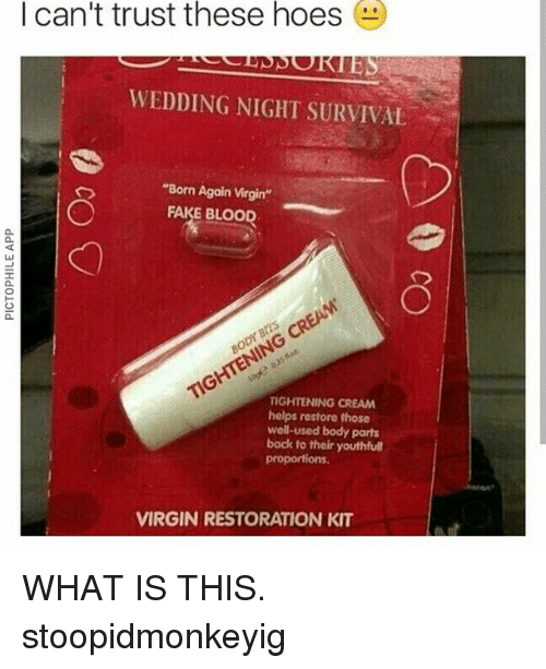 Fake virginity kit