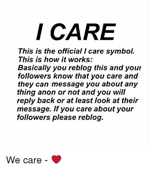 I Care This Is The Official I Care Symbol This Is How It Works