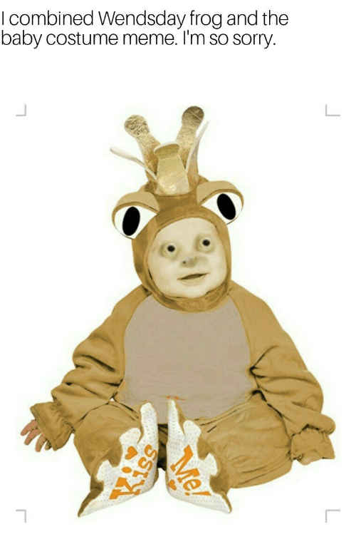 I Combined Wendsday Frog And The Baby Costume Meme Im So Sorry
