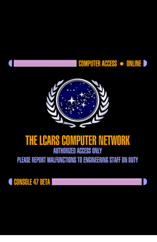 I! COMPUTERACCESS ONLINE D THE LCARS COMPUTERNETWORK AUTHORIE ACCESS