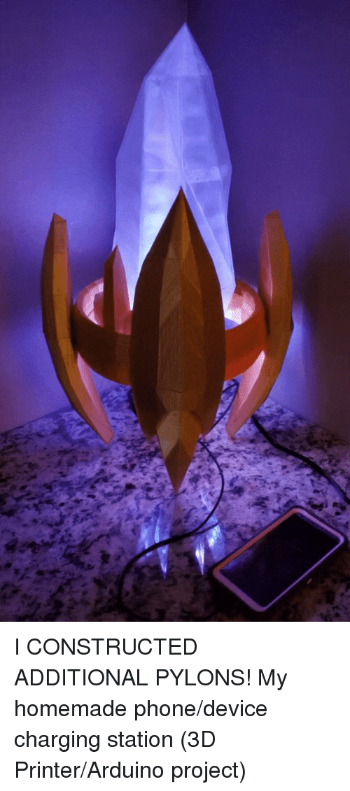 I Constructed Additional Pylons My Homemade Phonedevice Charging
