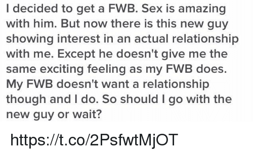 How to go from fwb to relationship