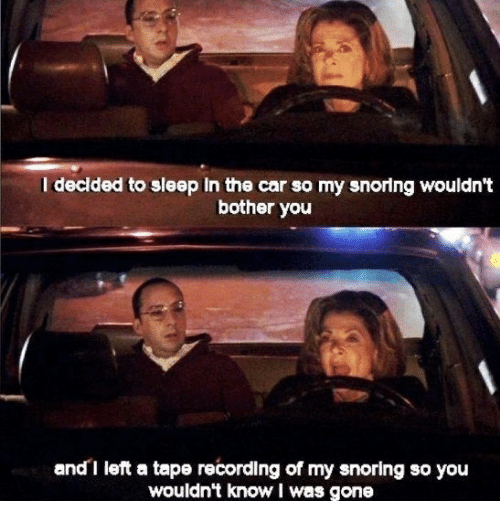 I Decided to Sleep in the Car So My Snoring Wouldn't Bother