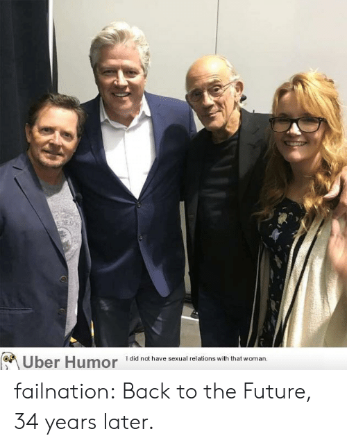 Back to the Future, Future, and Tumblr: I did not have sexual relations with that woman  Uber Humor failnation:  Back to the Future, 34 years later.