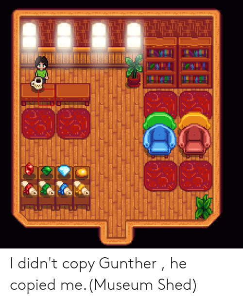 I Didn't Copy Gunther He Copied meMuseum Shed | Gunther Meme