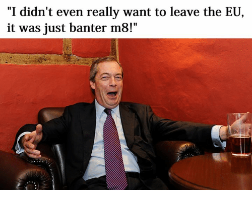 Its just banter