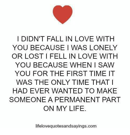 how i fall in love with you