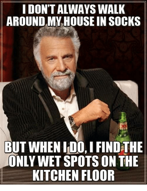 My House, House, And Wet: I DONT ALWAYS WALK AROUND MY HOUSE IN