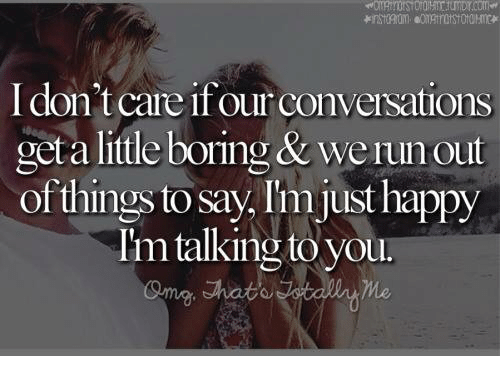 what to say when the conversation gets boring