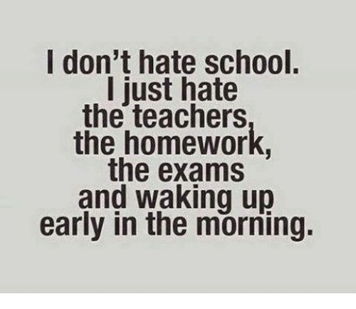I Hate School So Much