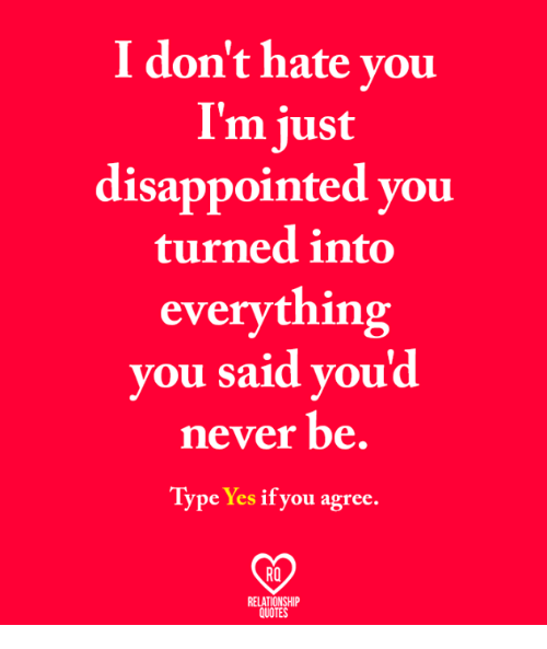 I Dont Hate You Im Just Disappointed You Turned Into Everything