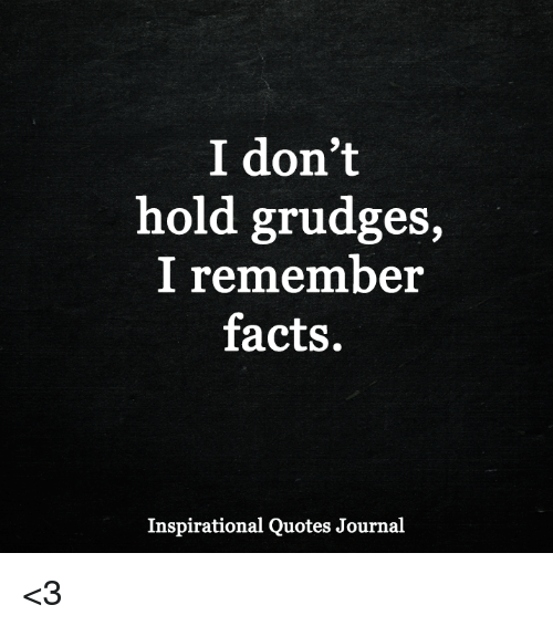 I Dont Hold Grudges I Remember Facts Inspirational Quotes Journal