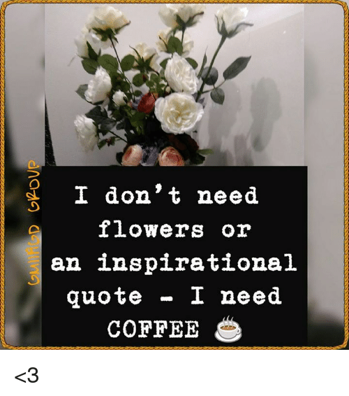 I Don't Need Flowers or an Inspirational Quote I Need COFFEE <3 ... #needCoffee