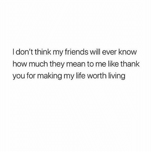 Friends, Funny, and Life: I don't think my friends will ever know  how much they mean to me like thank  you for making my life worth living