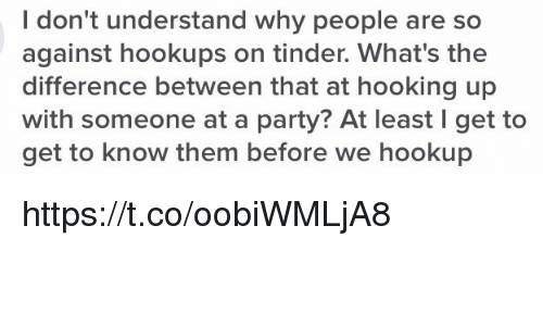 Difference between hookup and hooking up