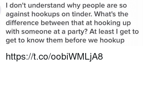 Difference hookup
