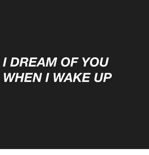 Dream, Wake, and You: I DREAM OF YOU  WHEN I WAKE UP