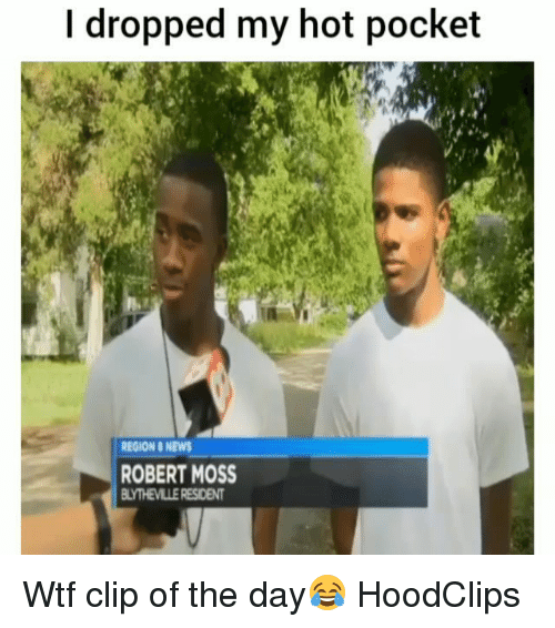 Funny, News, and Wtf: I dropped my hot pocket  REGION &NEWS  ROBERT MOSS  LYTHEVILLE RESIDENT Wtf clip of the day😂 HoodClips