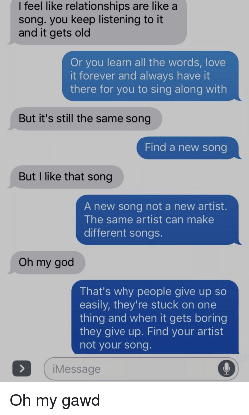 Songs for relationships
