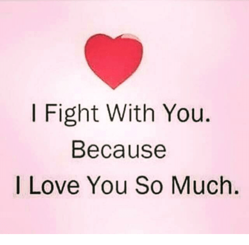 I Fight With You Because I Love You So Much Love Meme On Meme