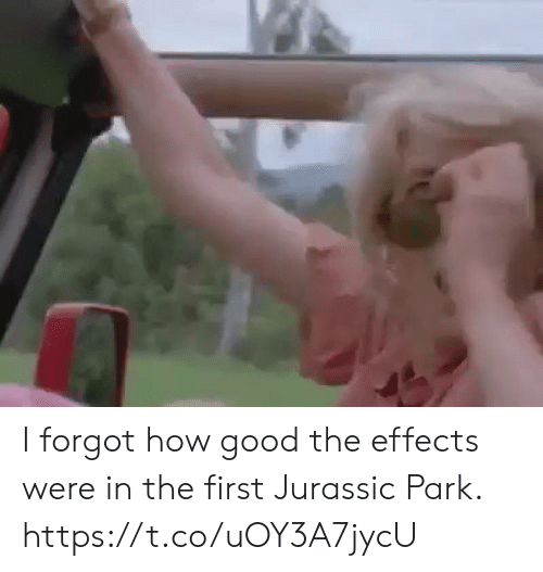 Sizzle: I forgot how good the effects were in the first Jurassic Park. https://t.co/uOY3A7jycU