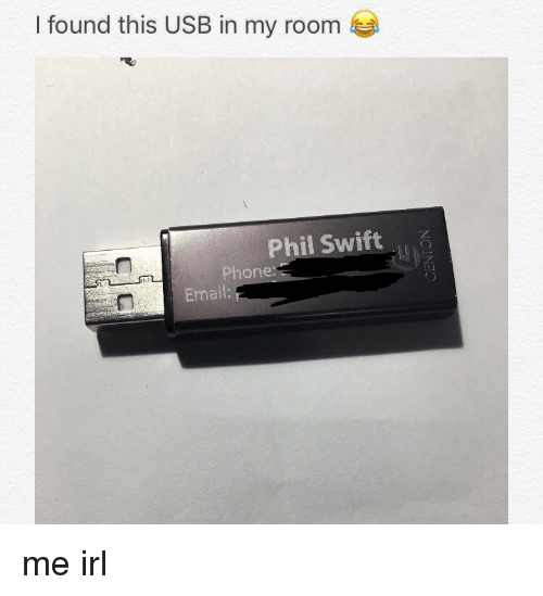 I Found This USB in My Room Phil Swift Phone Email | Phone