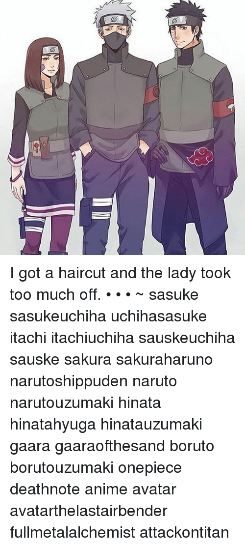 I Got A Haircut And The Lady Took Too Much Off Sasuke